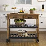 Roots Rack Industrial Kitchen Cart Made Solid Pine