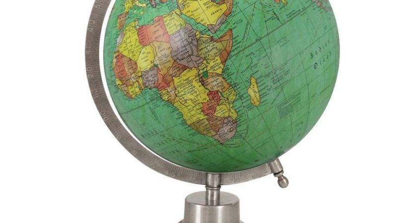 Rotating Big Decorative Ocean World Globe