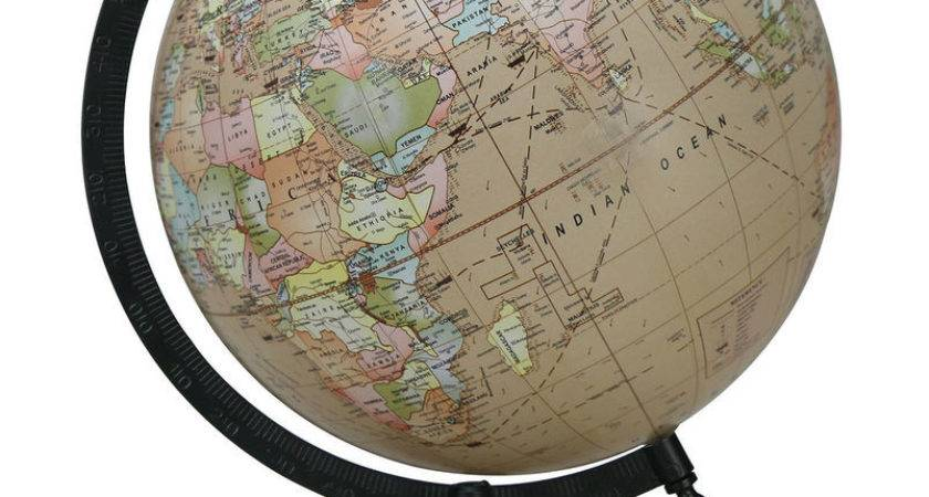 Rotating World Map Globes Table Decor Ocean Geographical