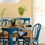 Round Painted Dining Room Chairs Ricedesigns