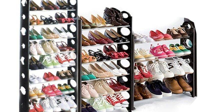 Round Shaped Standing Tier Shoe Tower Rack