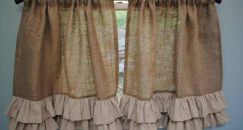 Ruffle Burlap Curtains Give Your Room Soothing