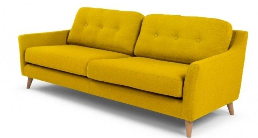 Rufus Seater Sofa Mustard Yellow Absolute Home