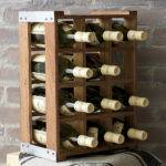 Rustic Acacia Wood Crate Wine Racks Green Head