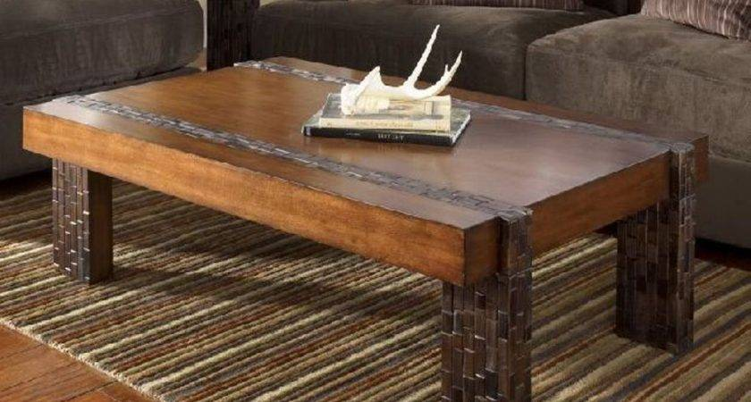 Rustic Coffee Table Storage