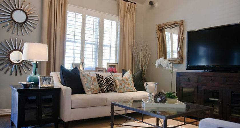 Rustic Glam Living Room Traditional