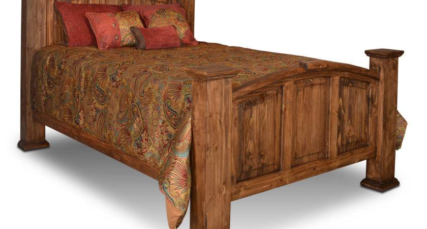 Rustic Mansion Bed Pine Wood