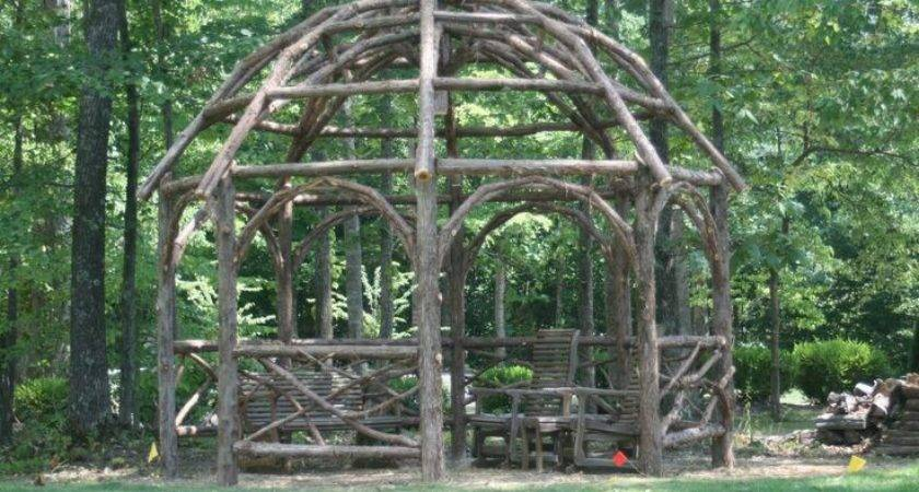 Rustic Pergola Custom Made Dome Roof Cedar