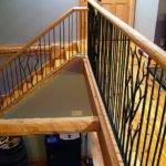 Rustic Railing Traditional Staircase Metro