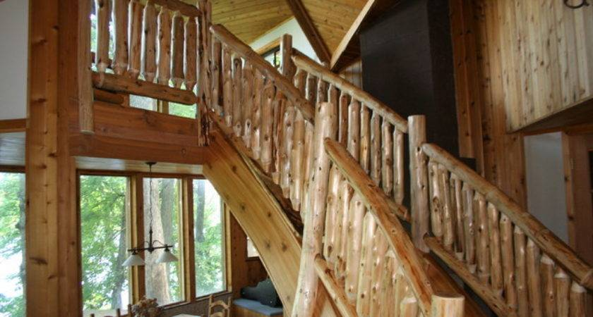 Rustic Staircase Contemporary Other Metro