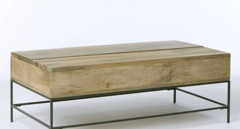 Rustic Storage Coffee Table Toronto Love