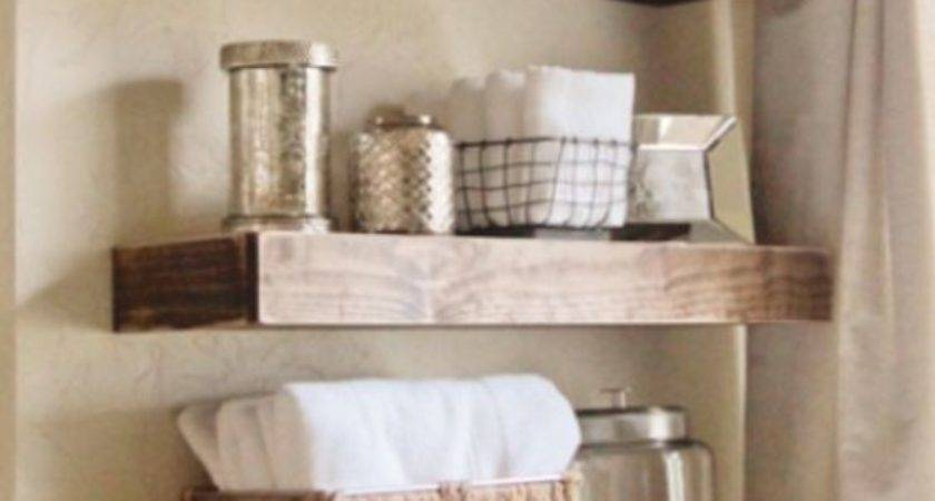 Rustic Wood Floating Shelves Country Decor Shelf Ebay