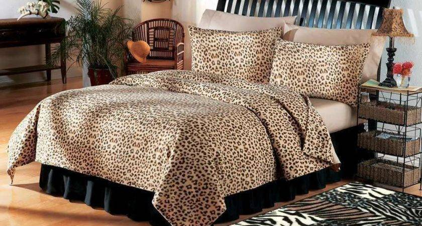 Safari Theme Home Decor Leopard Print Coverlet Bedding