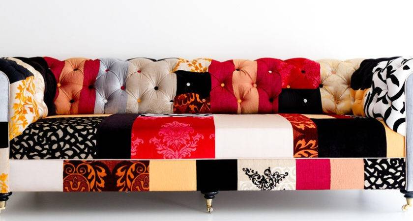 Sale Chesterfiled Sofa Patchwork