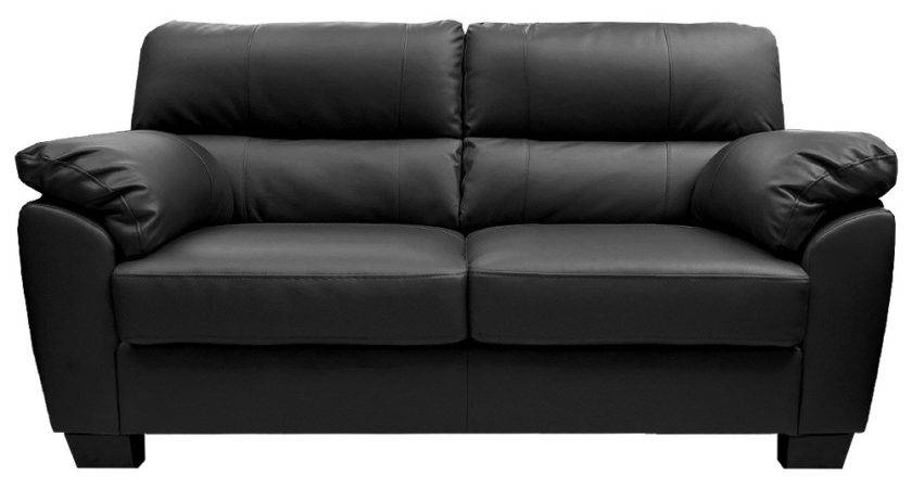 Sale Zara Large Seater Black Leather Sofa Sofas Couch