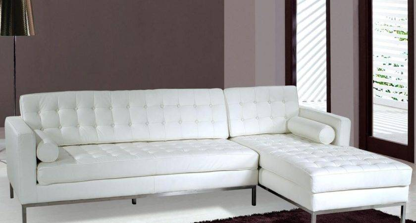 Saving Small Spaces Living Room Design White Leather