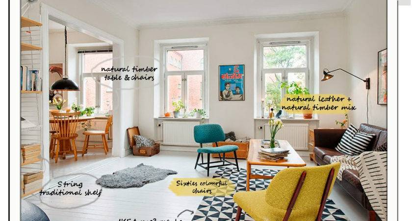 Scandinavian Interior Colourful Retro Mood