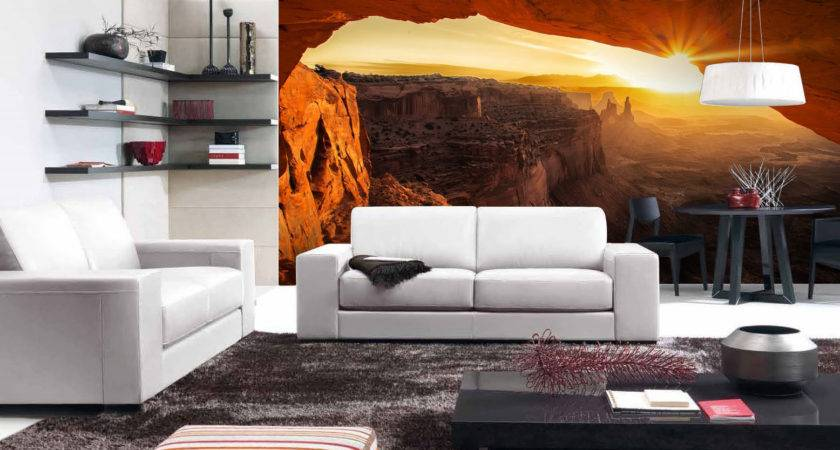 Scenic Living Room Wall Murals