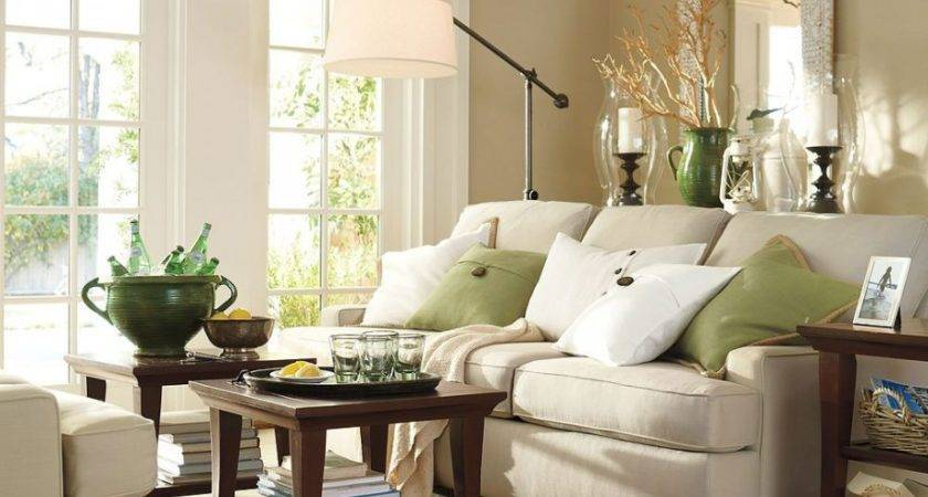 Sectional Sofa Lamps Living Rooms White Slipcovered