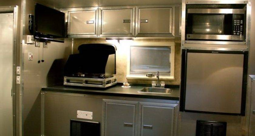 Sensational Small Campers Outside Kitchen Also Flat