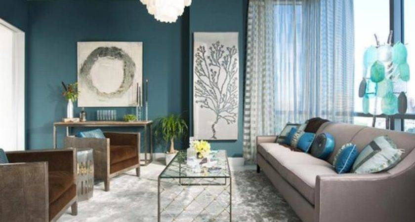 Serene Inviting Contemporary Blue Living Room Hgtv
