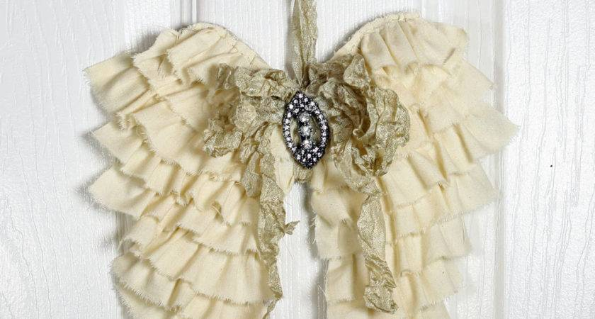 Shabby Angel Wings Wall Decor Ruffled Cottonridgeemporium