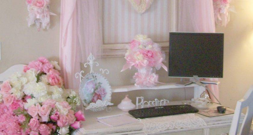 Shabby Chic Home Office Decor Tight Budget