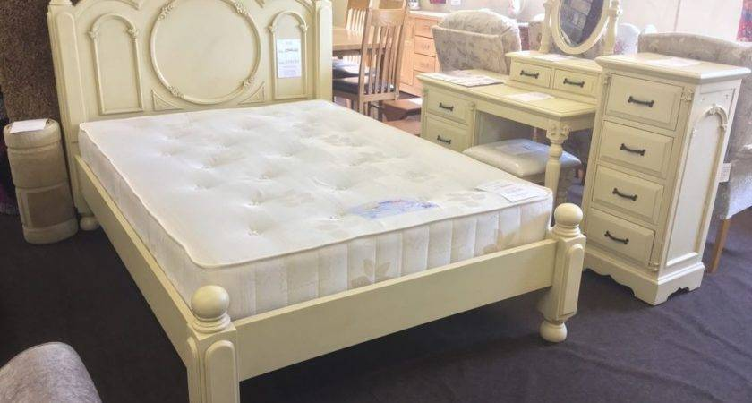 Shabby Chic Victorian Double French Style Cream Bed Frame