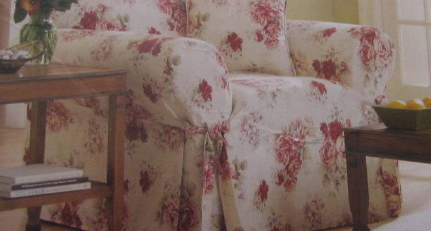 Shabby Pink Roses Blue Waverly Garden Room Chic