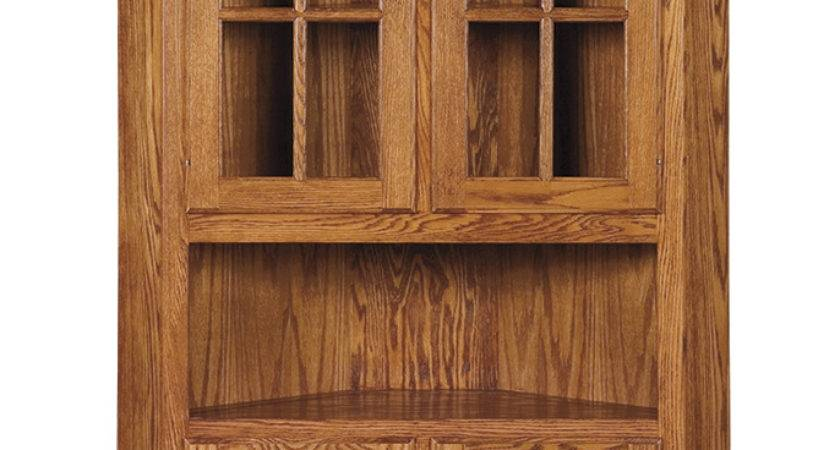 Shaker Corner Hutch Amish Furniture Connections