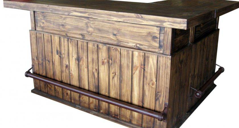 Shaped Bar Texas Rustic Wholesale Pine Furniture Mexico