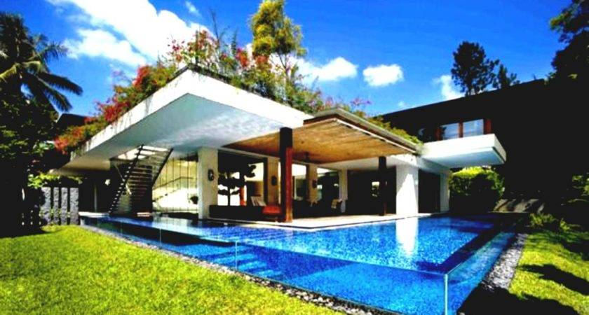 Shaped Cool House Plans Pool Middle Home