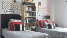 She Crafty Boys Room Grey Red Black