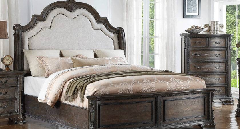 Sheffield Antique Gray King Bed Evansville Overstock