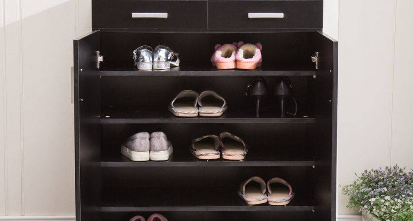 Shelf Pair Shoe Rack Storage Organizer Cabinet