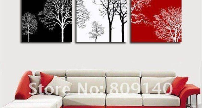 Shipping Decoration Oil Painting Canvas Abstract Tree