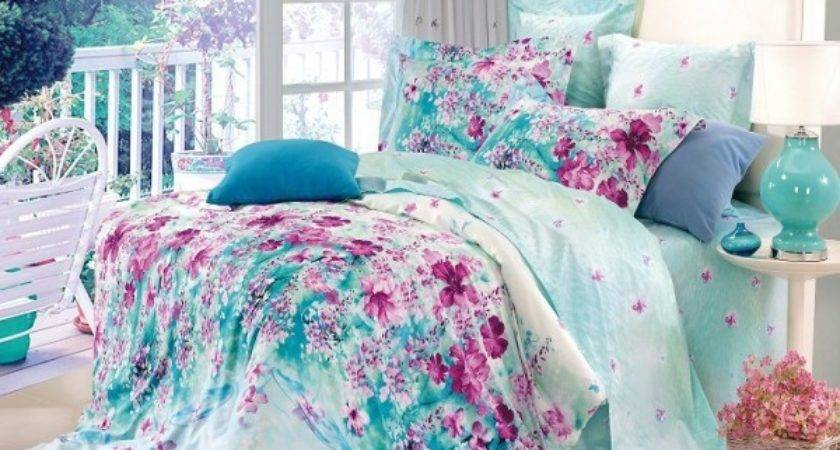 Shipping Flower Blue Floral Cotton Queen