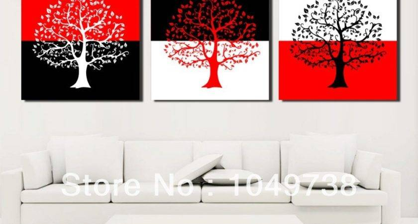 Shipping Piece Canvas Wall Art Black Red