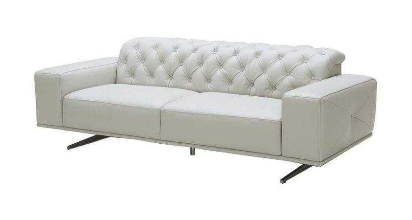 Shop Furniture Othello Light Grey Leather Sofa