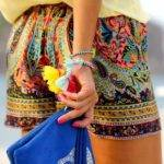 Shorts Summer Paisley Colorful Colourful