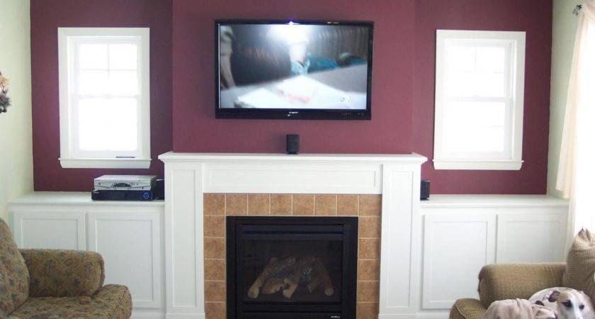 Should Run Wiring Above Fireplace Mounted