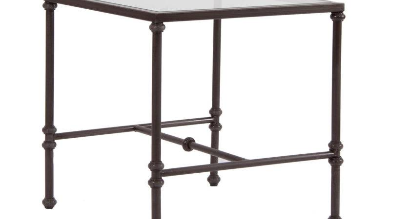 Side Table Glass Top Achica