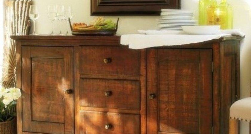 Sideboard Buffet Table Dining Room Display Shelf