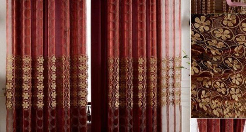 Silk Wine Color Insulated Blackout Curtain Living Room