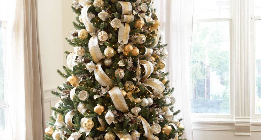 Silver Gold Christmas Tree Decorating