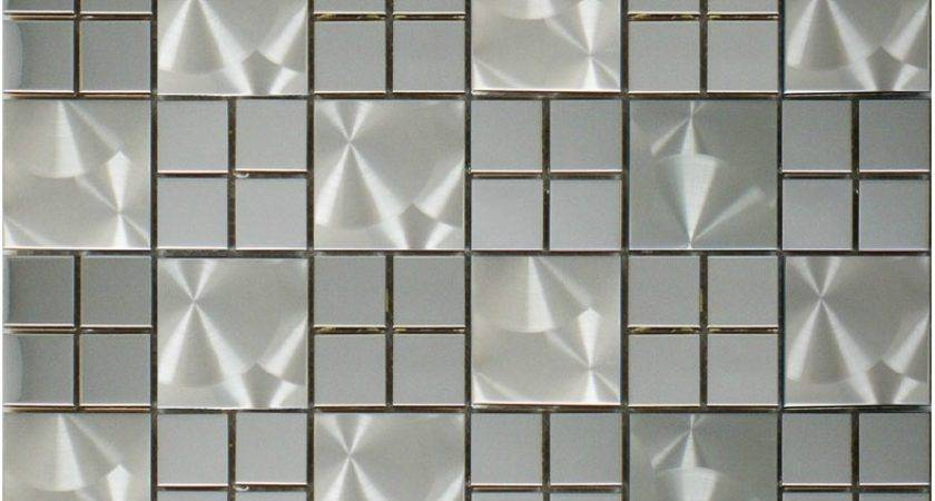 Silver Metallic Mosaic Wall Tile Smmt Stainless Steel