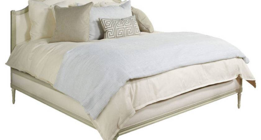 Simone Upholstered Bed Antique Ivory Cream
