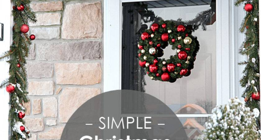 Simple Christmas Decorating Ideas Outdoor Mobil