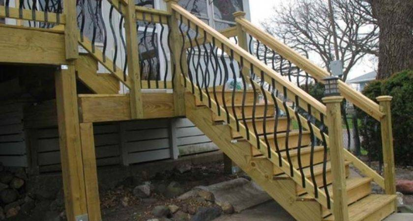 Simple Deck Railing Design Outdoor Stair