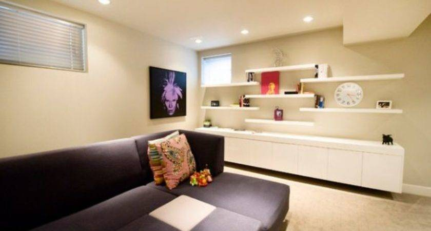 Simple Functional Space Saving Floating Wall Shelving